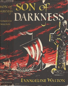 Dust jacket for Son of Darkness, UK 1957 retitle of The Cross and the Sword